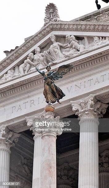 Detail of a statue at the Monumento Nazionale a Vittorio Emanuele II or Il Vittoriano is a monument in Rome built to honour king Victor Emmanuel the...