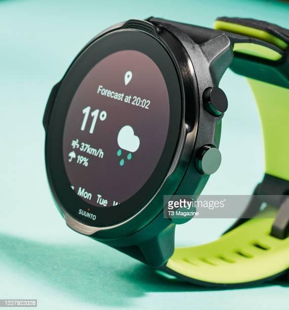 Detail of a Suunto 7 smartwatch, taken on February 14, 2020.