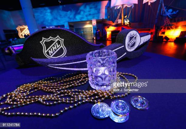 A detail of a table during the Saturday Night Party as part of the 2018 NHL AllStar Weekend on January 27 2018 in Tampa Florida