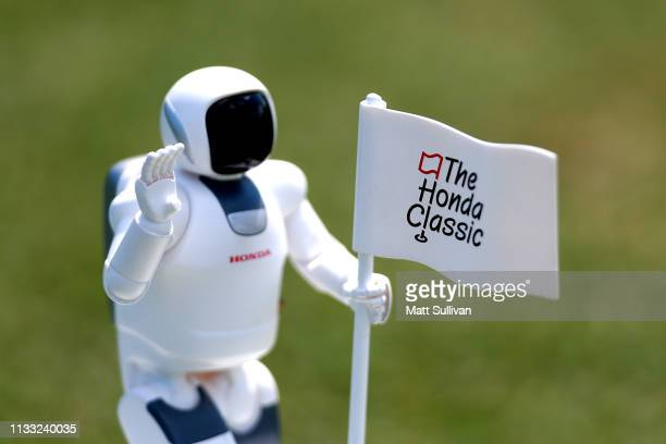A detail of a tee marker during the third round of the Honda Classic at PGA National Resort and Spa on March 02 2019 in Palm Beach Gardens Florida