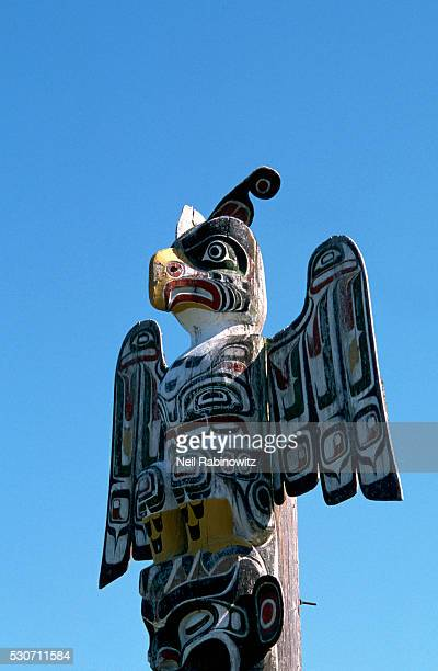 Detail of a Thunderbird on a Memorial Pole by Willie Seaweed