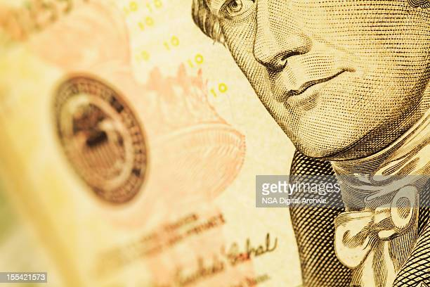 Detail of a US Dollar Bill (High Resolution Image)