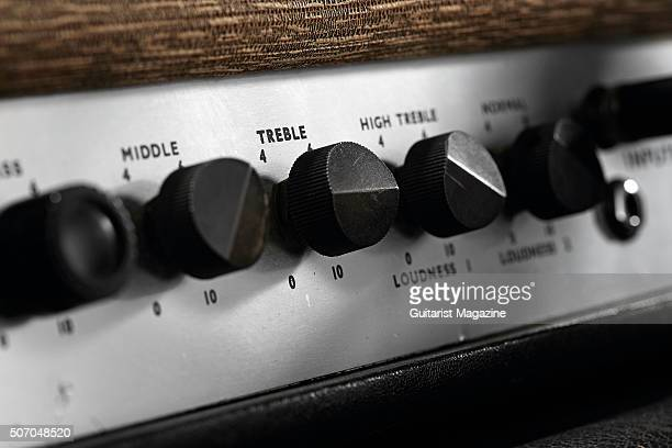 Detail of a vintage 1964 Marshall JTM45 MkII amplifier taken on April 24 2015