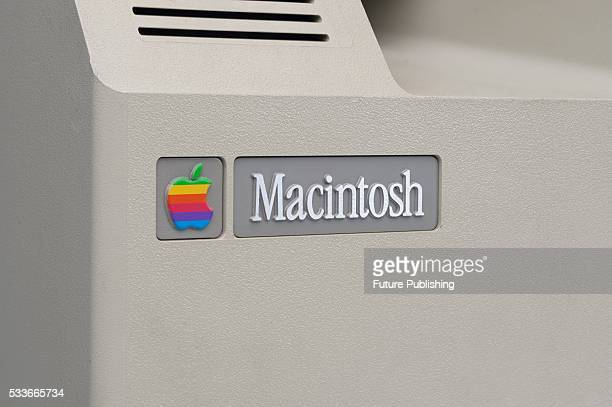 Detail of a vintage 1980's Apple Macintosh personal computer taken on May 21 2009