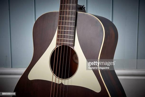 Detail of a Vintage Gemini Paul Brett Baritone electroacoustic guitar taken on November 9 2016