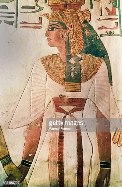 A detail of a wall painting in the tomb of Queen Nefertari Egypt Ancient Egyptian 19th dynasty c12901220 BC