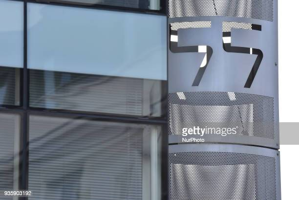 Detail of a window of the London headquarters of Cambridge Analytica is pictured on New Oxford Street in central London on March 21 2018 The company...