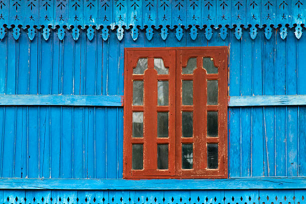 Detail of a wooden house