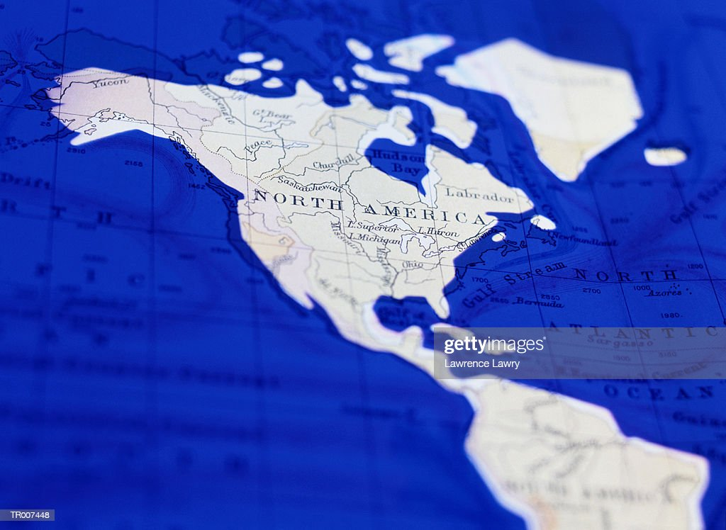 Detail Of A World Map Showing The Americas Stock-Foto ...