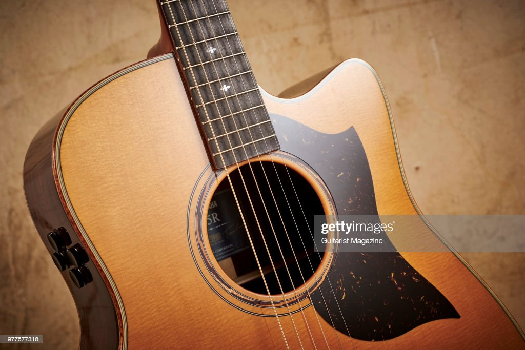 detail of a yamaha a5r are electro acoustic guitar taken on june 30 news photo getty images. Black Bedroom Furniture Sets. Home Design Ideas