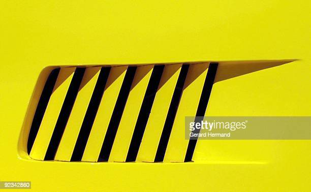 Detail of a Yellow Car
