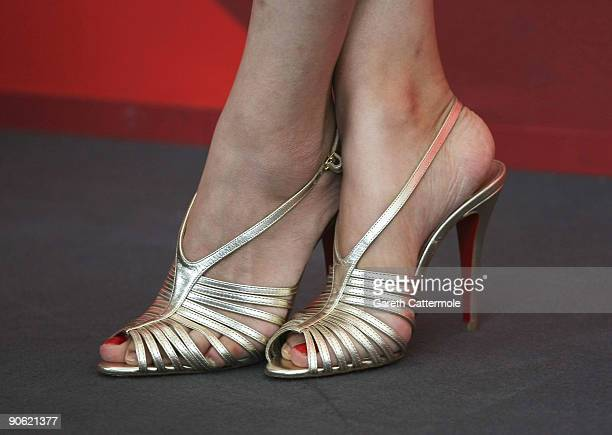A detail of actress Wu Anya as she attends the 'Chengdu I Love You' photocall at the Palazzo del Casino during the 66th Venice Film Festival on...