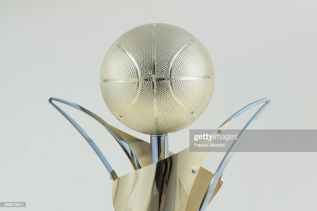 Detail of Adidas Next Generation Tournament Champion Trophy during 2018 Turkish Airlines EuroLeague F4 Trophy Session at Stark Arena on May 16, 2018 in Belgrade, Serbia.