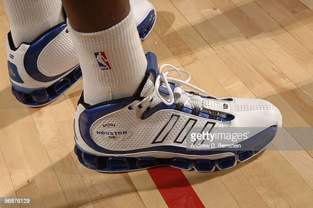 A detail of adidas sneakers worn by Dwight Howard of the Sophomore Team are seen during the TMobile Rookie Challenge at the 2006 NBA AllStar Weekend...