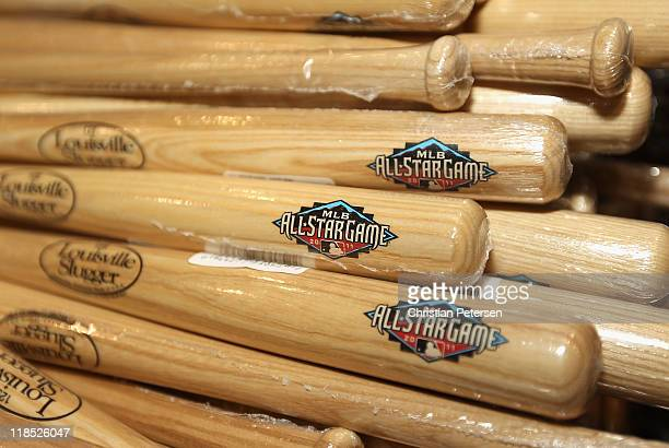 Detail of AllStar mini bats at MLB Fan Fest held at the Phoenix Convention Center on July 8 2011 in Phoenix Arizona The 2011 MLB AllStar game will be...