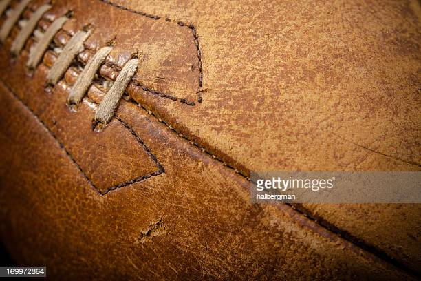 detail of american football - old american football stock photos and pictures