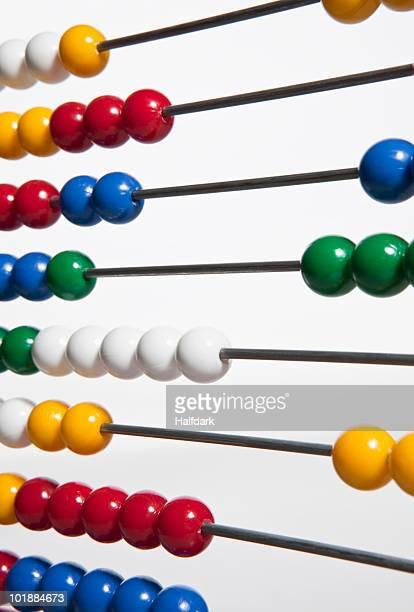 detail of an abacus - perlenschnur stock-fotos und bilder