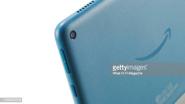 Detail of an Amazon Fire HD 8 tablet, taken on September 23, 2020.