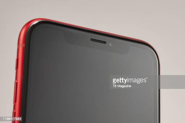 Detail of an Apple iPhone XR smartphone taken on November 5 2018