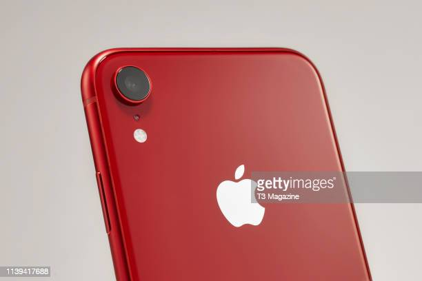 Detail of an Apple iPhone XR smartphone taken on November 5 2018