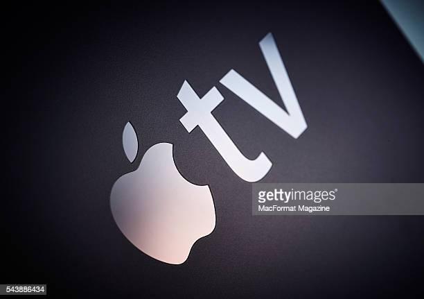 Detail of an Apple TV device taken on November 4 2015