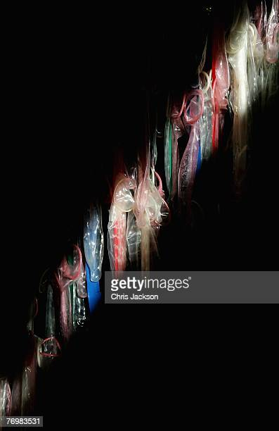 Detail of an art installation entitled 'The Journey against Sex Trafficking' is seen in Trafalger Square on September 24 2007 in London England The...