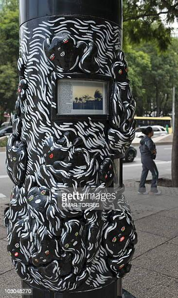 Detail of an 'Ecoscopio' in Reforma Avenue in Mexico City on July 16 2010 The word 'Ecoscopio' is derived from the words ecology and telescope and...