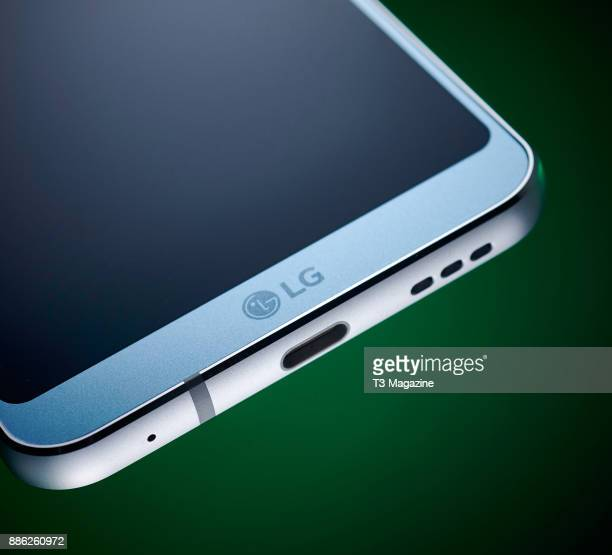 Detail of an LG G6 smartphone taken on April 20 2017