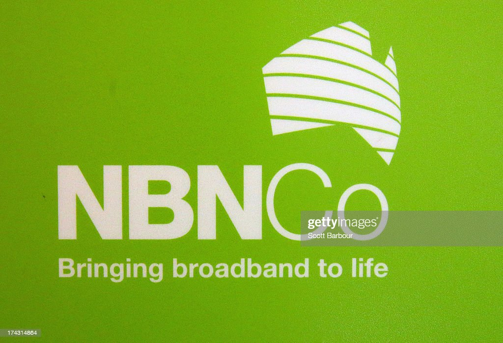 A detail of an NBN sign as Anthony Albanese, Deputy Prime Minister of Australia switches on the NBN fibre network to an addtional 2,600 homes and businesses in Brunswick at the Brunswick Digital Hub on July 24, 2013 in Melbourne, Australia. The national broadband network is being rolled out accross Australia, and is to provide over 93% of Australian homes and business with access to a fibre optic network. As the 2013 Australian federal election approaches and infrastructure remains a major concern of voters, the Labor party continues to push the power of their fibre direct to the home plan with the Liberal party pushing what it claims is a more cost-effective plan using existing copper and new optical fibre.
