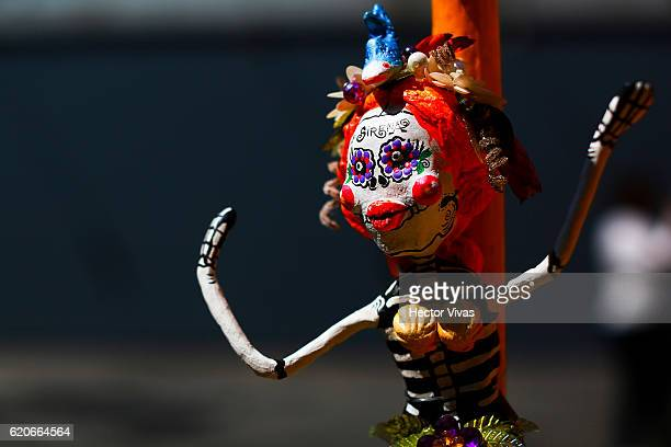 Detail of an offering during the Day of the Dead celebration known in spanish as Dia de los Muertos at Centro Historico on November 02 2016 in Mexico...
