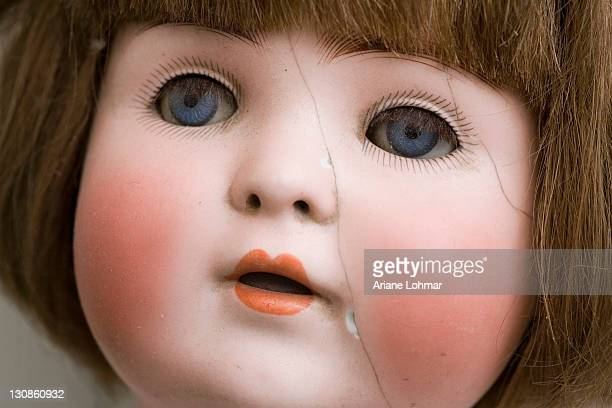 Detail of an old doll from the 1920ies