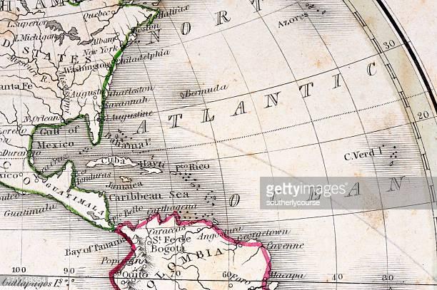 Detalle de un antiguo Mapa