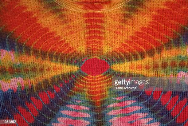 Detail of an original tiedyed Tshirt from the 1960s