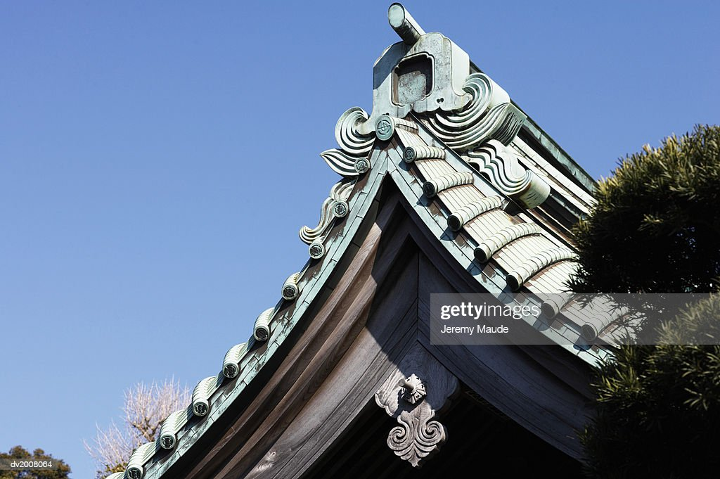 Detail of an Ornate Roof, Japan : Stock Photo