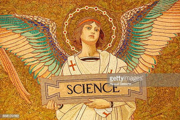 Detail of Angel Mosaic in Crypt at Musee Pasteur