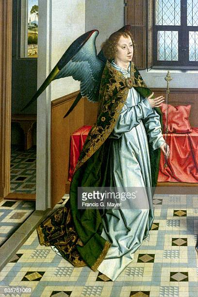 Detail of Archangel Gabriel from The Annunciation by Dieric Bouts