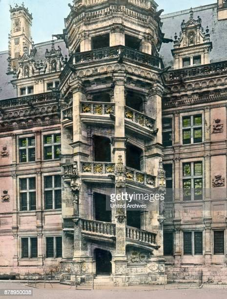 Detail of ascending the castle in the city of Blois Blois in the Loire Valley