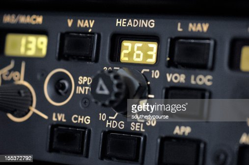 Detail Of Autopilot Control Panel Boeing 737300 Stock Photo