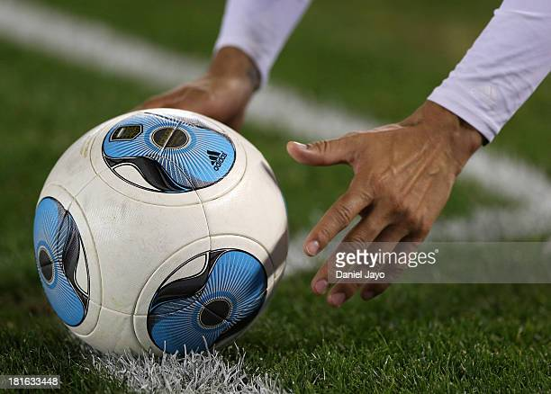Detail of ball during a match between River Plate and All Boys as part of the Torneo Inicial 2013 at Monumental Stadium on September 22 2013 in...