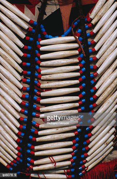 detail of beads on native american indian dress, cherokee, united states of america - cherokee culture stock pictures, royalty-free photos & images