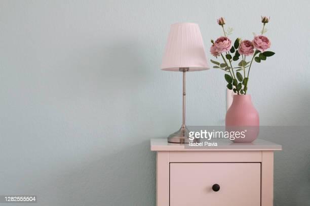 detail of bedside table in bedroom - ロマン主義 ストックフォトと画像