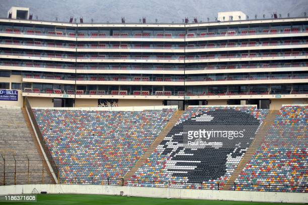 Detail of bleechers of Estadio Monumental de Lima on November 08 2019 in Lima Peru As a result of the protests and social unrest that started on...