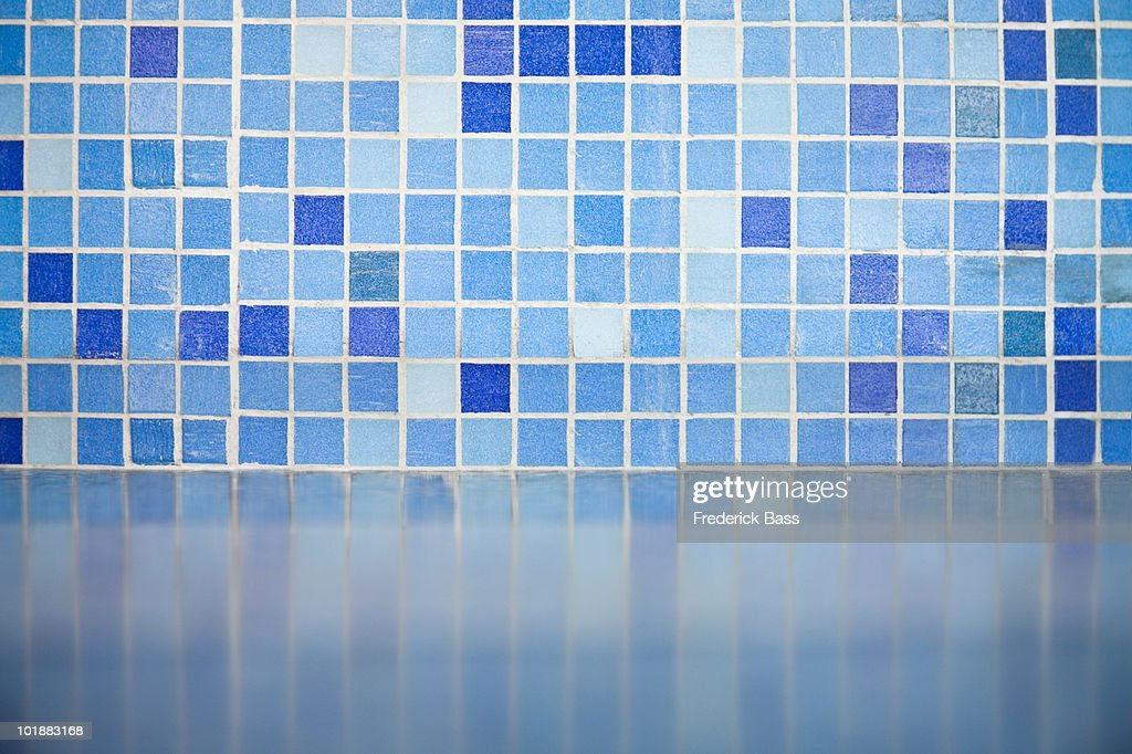 Detail of blue tiles : Stock Photo