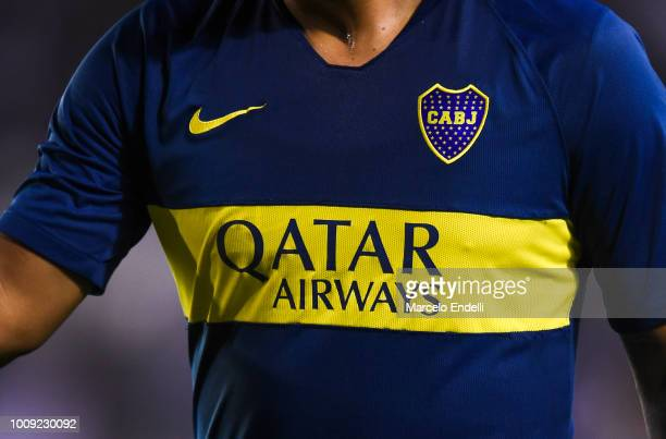 Detail of Boca Juniors jerseys during a match between Boca Juniors and Alvarado as part of Round of 64 of Copa Argentina 2018 on August 1 2018 in...