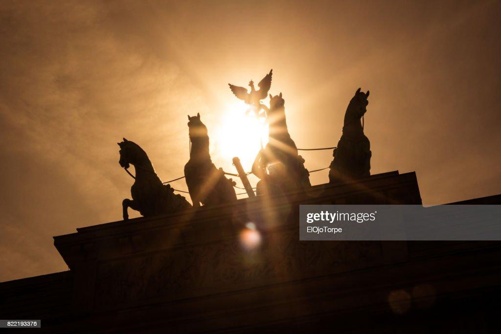 Detail of Brandenburg Gate, Berlin, Germany : Stock Photo