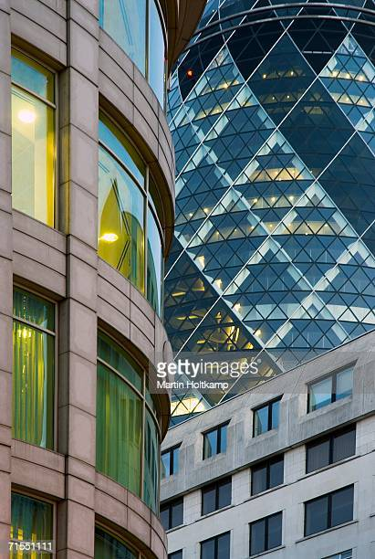 Detail of buildings in London?s business district, London, England