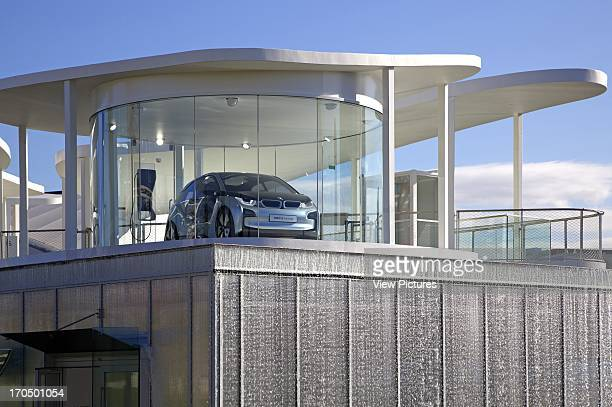 Detail of car 'pod' from below BMW Group Pavilion London 2012 Showroom Europe United Kingdom Serie Architects