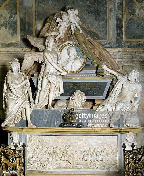 Detail of Carlo Emanuele's tomb Basilica of Superga Turin Italy 18th century