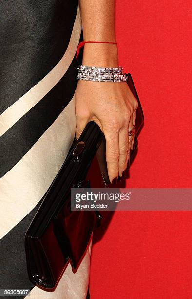 Detail of Cartier designs worn by actress Demi Moore at the Cartier 100th Anniversary in America Celebration at Cartier Fifth Avenue Mansion on April...