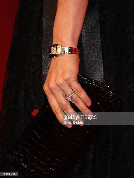 Detail of Cartier designs worn by actress Kate Hudson at the Cartier 100th Anniversary in America Celebration at Cartier Fifth Avenue Mansion on...